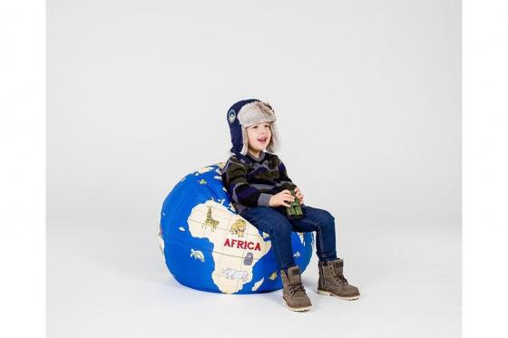 pouf en forme de globe terrestre pour enfants cadeaux24. Black Bedroom Furniture Sets. Home Design Ideas