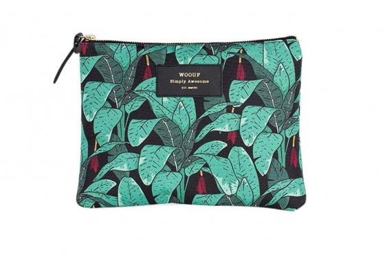 Poche à motifs - avec des feuilles de jungle