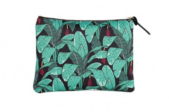 Poche à motifs - avec des feuilles de jungle 1