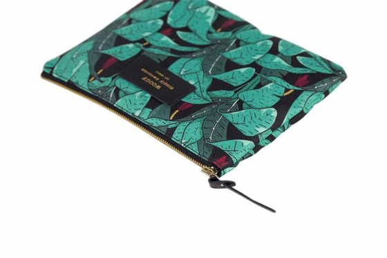 Poche à motifs - avec des feuilles de jungle 2
