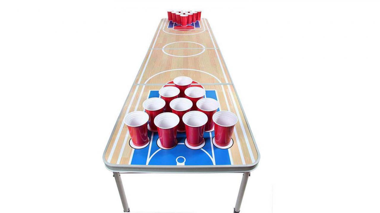 table de beer pong. Black Bedroom Furniture Sets. Home Design Ideas