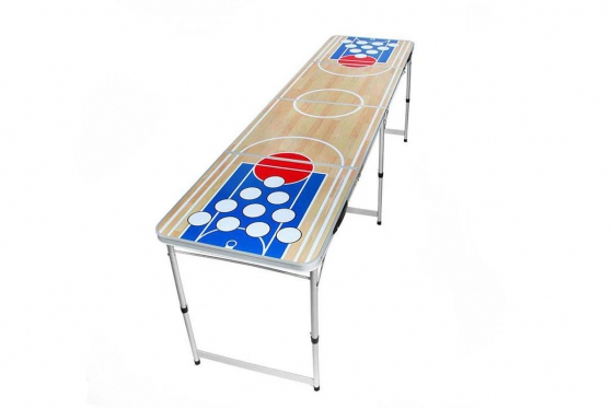 Beer-Pong Tisch - im Basketball Design - 240x60x76 cm 1