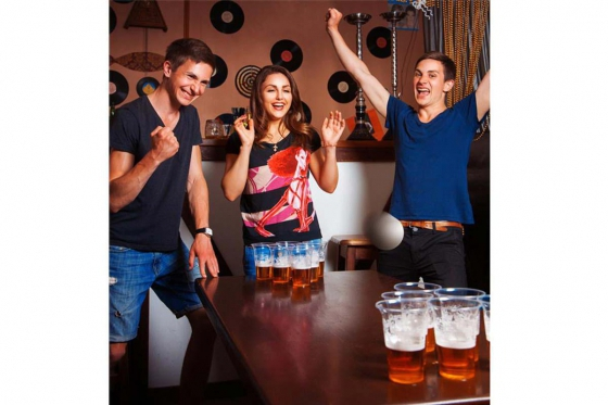 Beer-Pong Tisch - im Basketball Design - 240x60x76 cm 3