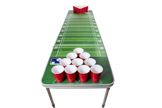 Beer-Pong Tisch - im American Football Design - 240x60x76 cm