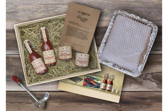 BBQ-Set - Texas BBQ Ribs - inkl. Brandeisen & Einweg-Grill