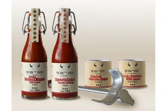 BBQ-Set - Texas BBQ Ribs - inkl. Brandeisen & Einweg-Grill 1