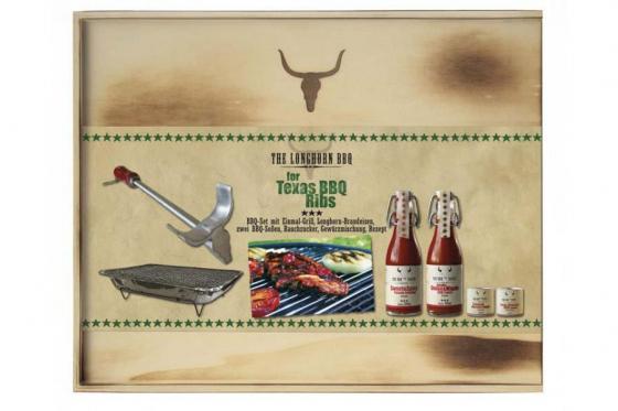 BBQ-Set - Texas BBQ Ribs - inkl. Brandeisen & Einweg-Grill 2
