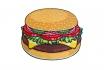 Serviette de bain Burger - Ø 1.5m 1 [article_picture_small]