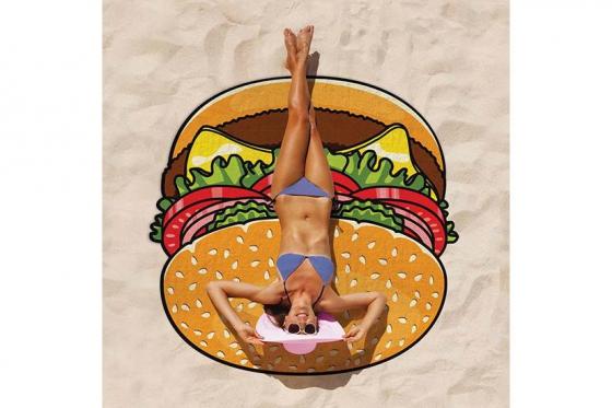 Serviette de bain Burger - Ø 1.5m