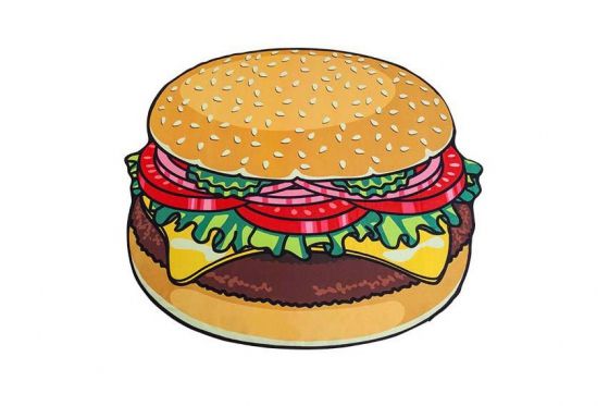 Serviette de bain Burger - Ø 1.5m 1