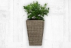 Rattan Blumentopf - 42x42x66 cm - quadratisch  [article_picture_small]