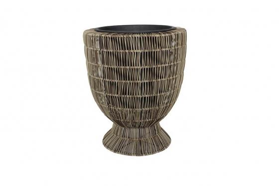 Rattan Blumentopf - 42x42x50 cm - vasenförmig 1