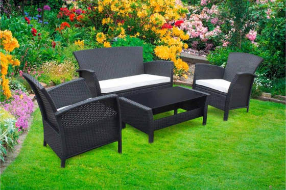 rattan lounge bambay. Black Bedroom Furniture Sets. Home Design Ideas