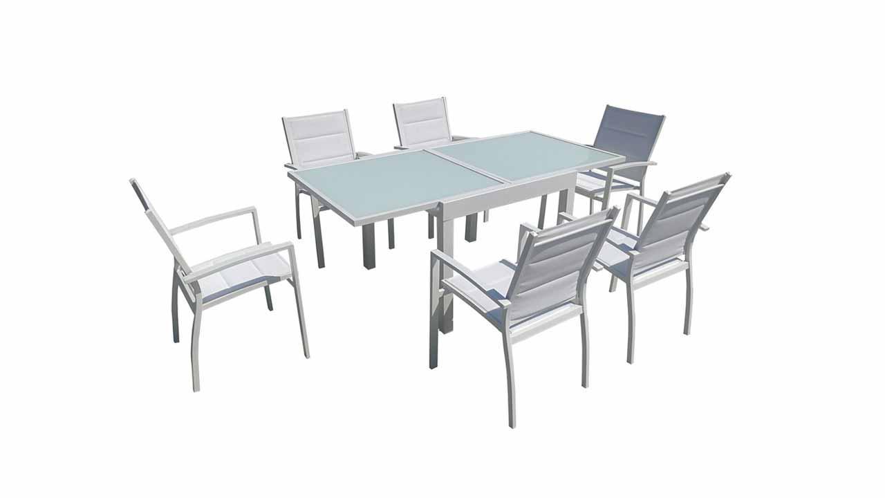 Salon de jardin avec table extensible - Table de salon extensible ...