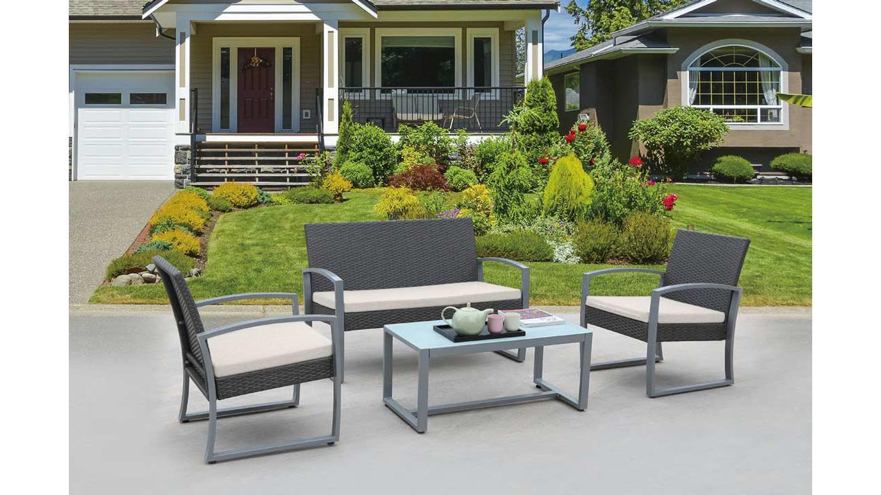 salon de jardin en rotin. Black Bedroom Furniture Sets. Home Design Ideas
