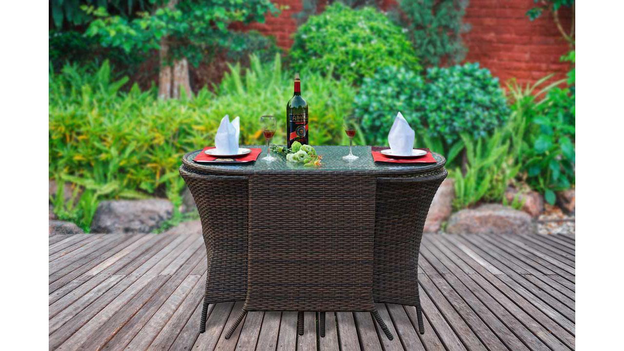 rattan bistro set. Black Bedroom Furniture Sets. Home Design Ideas