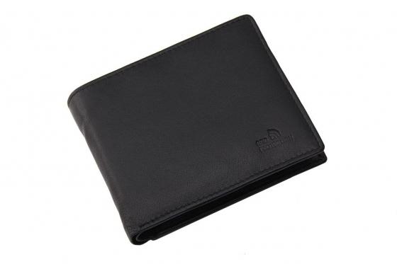 Leder Portemonnaie inkl. RFID-Schutz - mit Lasergravur