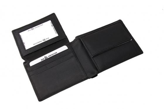 Porte-monnaie en cuir avec protection RFID - avec gravure laser  2