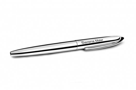 Kugelschreiber 'Florence' - Versilbert - mit Gravur