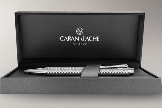 Caran d'Ache Kugelschreiber Golf - mit Gravur - Palladiumbeschichtet 1
