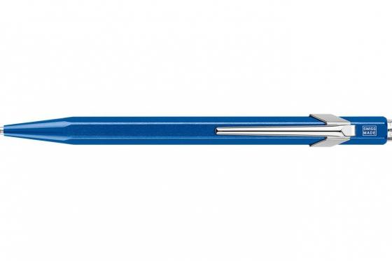 Caran d'Ache Kugelschreiber - mit Gravur - POPLINE metallic blau 2
