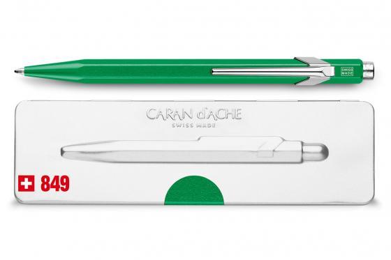 Caran d'Ache Kugelschreiber - mit Gravur - POPLINE metallic green