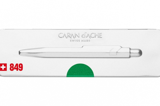 Caran d'Ache Kugelschreiber - mit Gravur - POPLINE metallic green 2