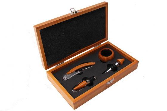 Set accessoires à vin - 5 pièces - personnalisable avec gravure 1