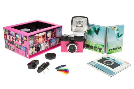 Lomo Diana Mini & Flash - Film Kamera, Sonderedition Pink 3