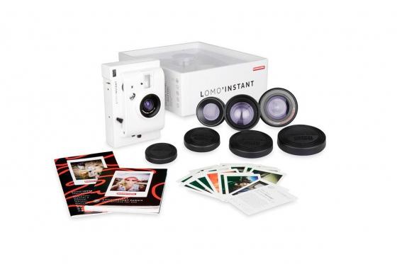 Lomo Instant White Edition - Appareil photo à pellicule + 3 objectifs inclus 4