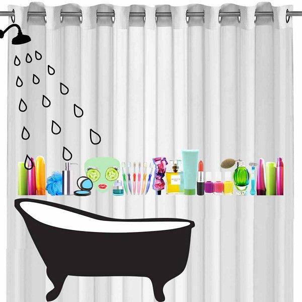 Rideau de douche for Systeme rideau de douche