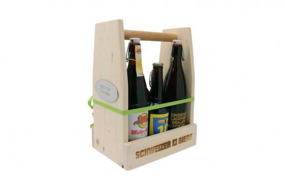 Bierprobe im Holzrahmen - personalisierbar 2