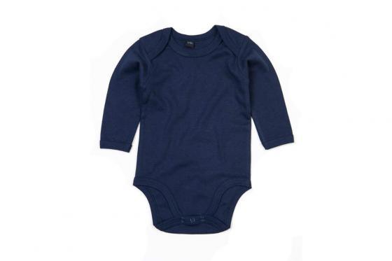 Babybody langarm Lausbube blau - personalisierbar