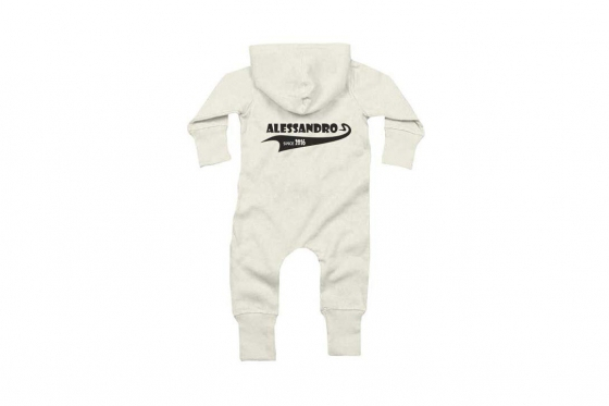 Baby-Overall Since  weiss - personalisierbar 3