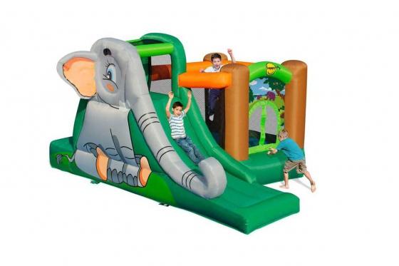 Château fort gonflable avec toboggan - Le paradis des éléphants Dumbo