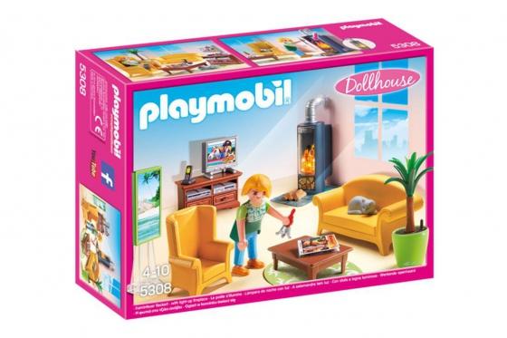 Wohnzimmer mit Kaminofen - Playmobil® Puppenhaus