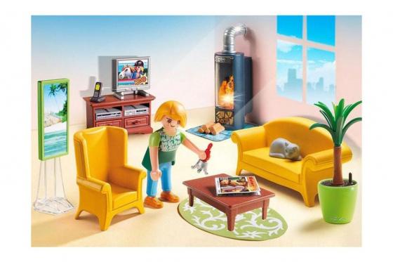 Wohnzimmer mit Kaminofen - Playmobil® Puppenhaus 2