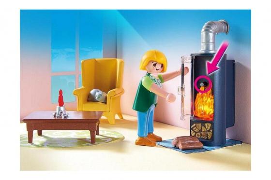 Wohnzimmer mit Kaminofen - Playmobil® Puppenhaus 3