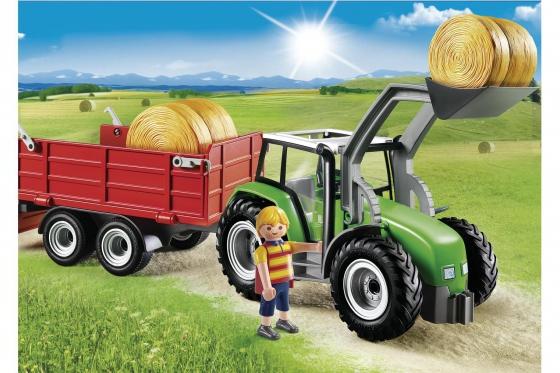 Großer Traktor mit Anhänger - Playmobil® Playmobil Bauernhof Playmobil à la ferme 6130