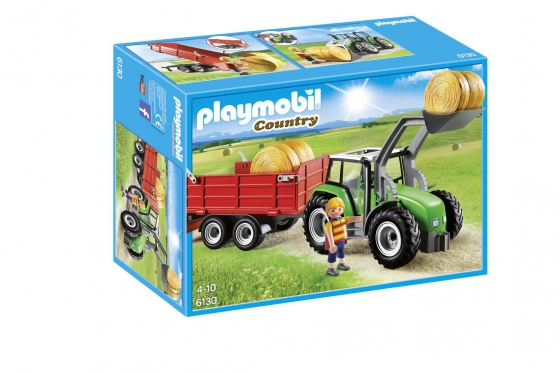 Großer Traktor mit Anhänger - Playmobil® Playmobil Bauernhof Playmobil à la ferme 6130 1