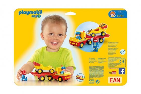 Rennauto mit Transporter - Playmobil® Playmobil 1.2.3 Playmobil 1.2.3 6761 1