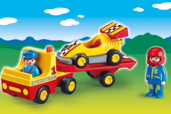 Rennauto mit Transporter - Playmobil® Playmobil 1.2.3 Playmobil 1.2.3 6761 2