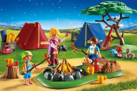 Zeltlager mit LED-Lagerfeuer - Playmobil® Playmobil Freizeit Playmobil Loisirs 6888