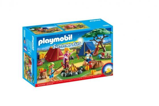 Zeltlager mit LED-Lagerfeuer - Playmobil® Playmobil Freizeit Playmobil Loisirs 6888 1