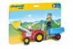 Traktor mit Anhänger - Playmobil® Playmobil 1.2.3 Playmobil 1.2.3 6964  [article_picture_small]