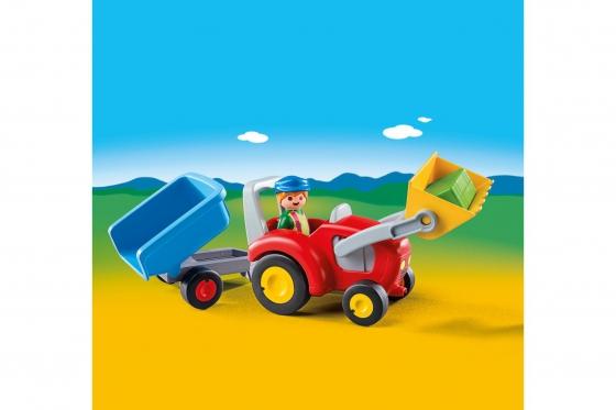 Traktor mit Anhänger - Playmobil® Playmobil 1.2.3 Playmobil 1.2.3 6964 1