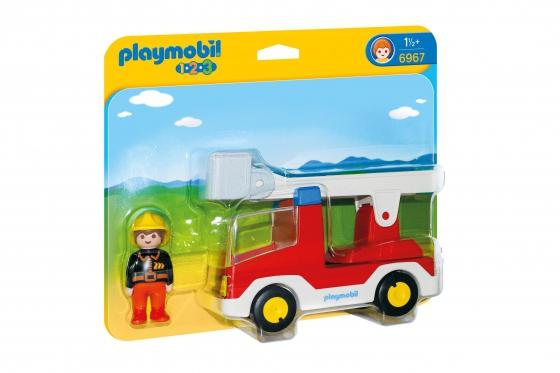 Feuerwehrleiterfahrzeug - Playmobil® Playmobil 1.2.3 Playmobil 1.2.3 6967