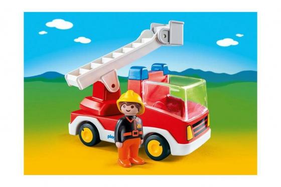 Feuerwehrleiterfahrzeug - Playmobil® Playmobil 1.2.3 Playmobil 1.2.3 6967 1