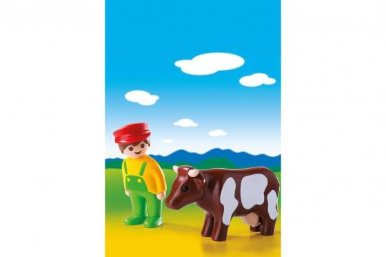 Bauer mit Kuh - Playmobil® Playmobil 1.2.3 Playmobil 1.2.3 6972