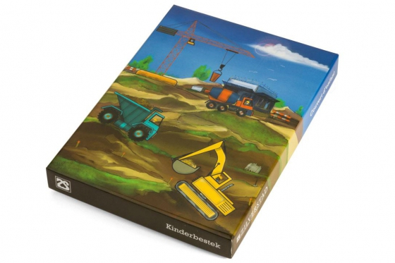 Kinderbesteck Baufahrzeuge - personalisierbar 3